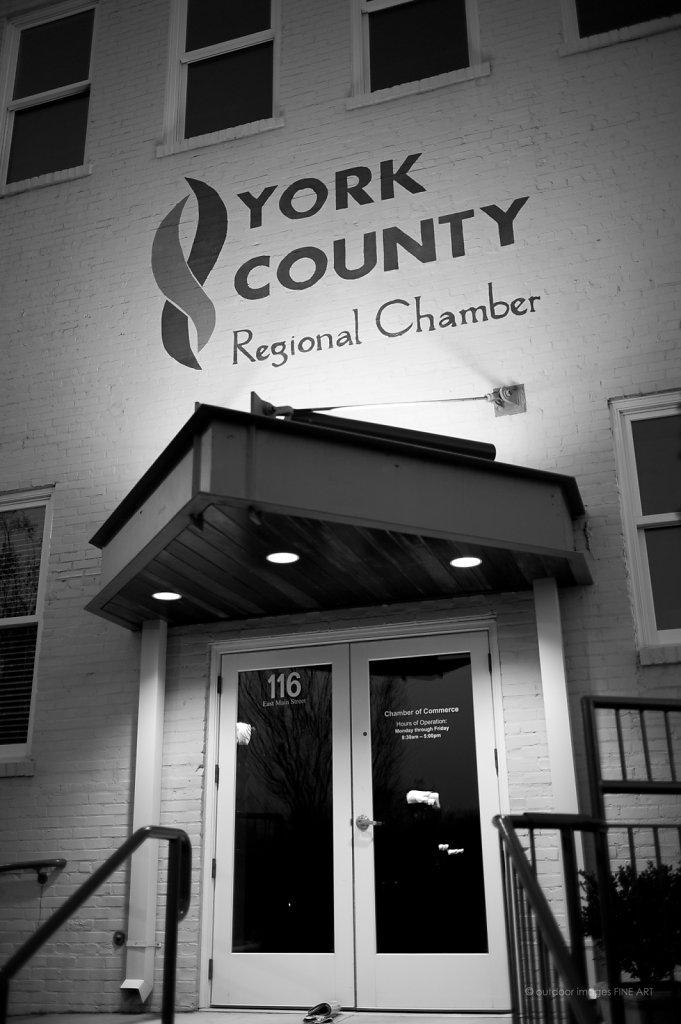 York County Chamber Door in Rear