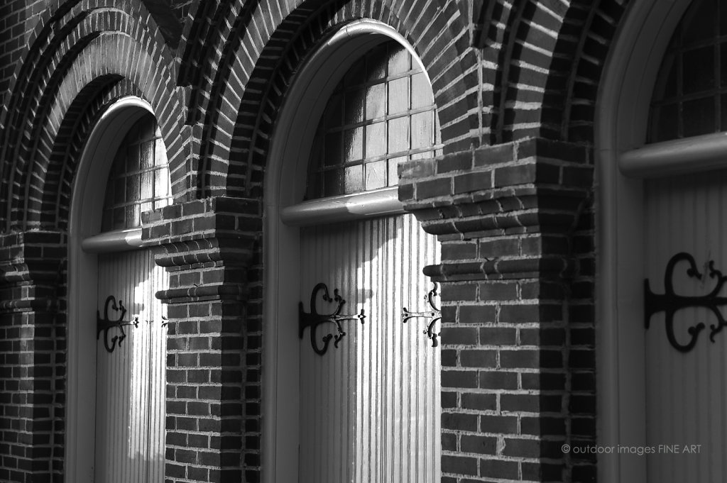 Church Doors in Early Morning Light