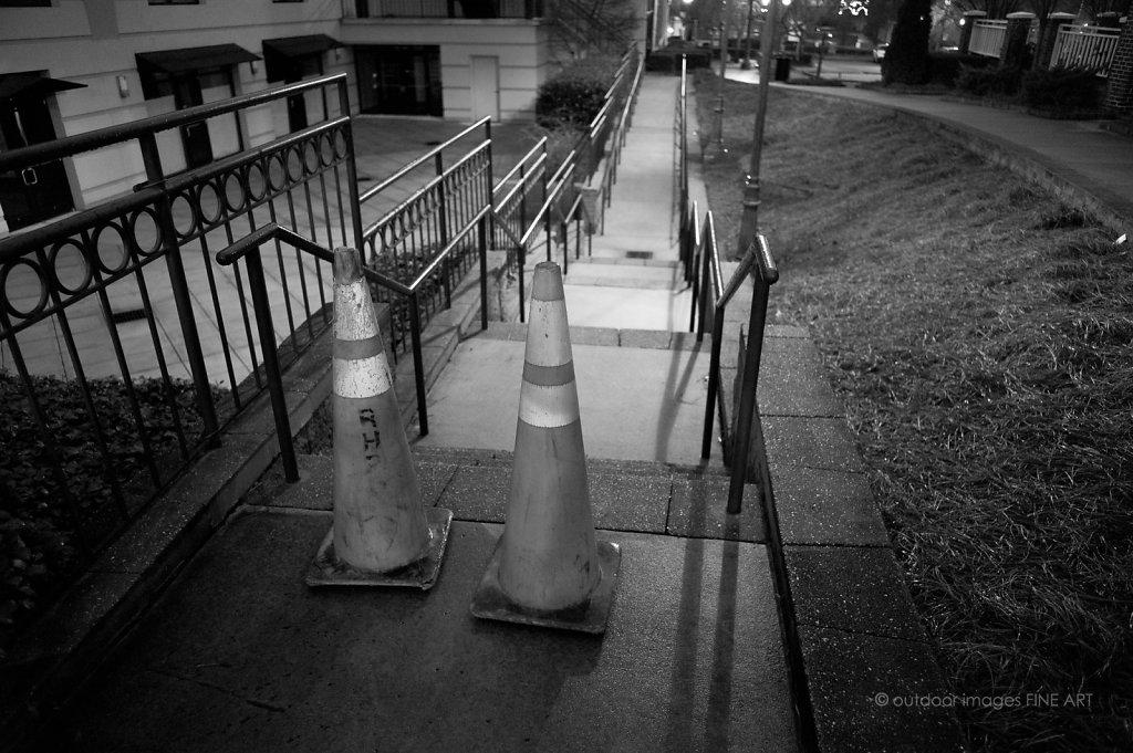 Sidewalk Sentries at Night
